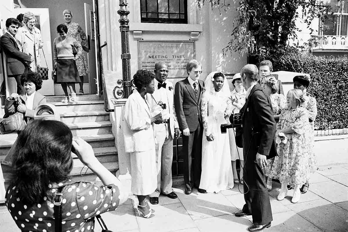 13 Jehovah's Witnesses, Wedding, Monmouth Road, circa 1981 C-Print Photograph