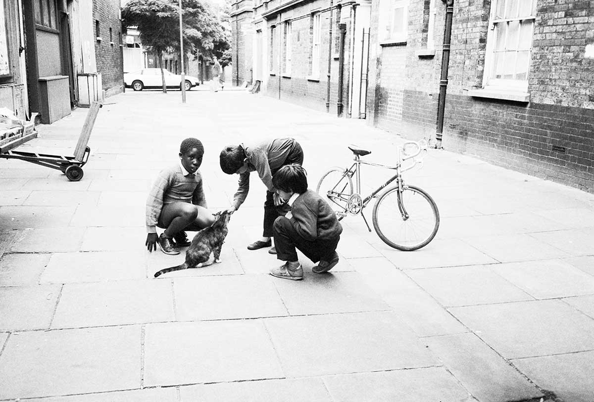 5 Kids in Kings Cross Alley, circa 1983  C-Print Photograph